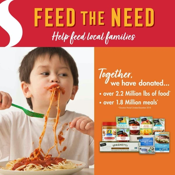 Poster for Safeway's Feed the Need food drive