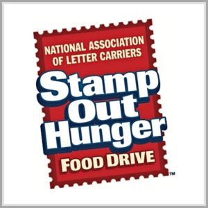 Stamp Out Hunger food drive by National Letter Carriers