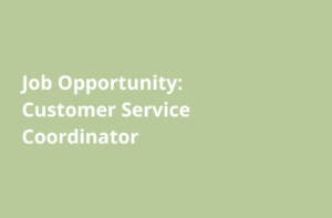 Food Bank job announcement customer service coordinator
